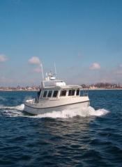 Jagt- fiskeri- og fritidsbåd, Rødvig 860, udført i glasfiber